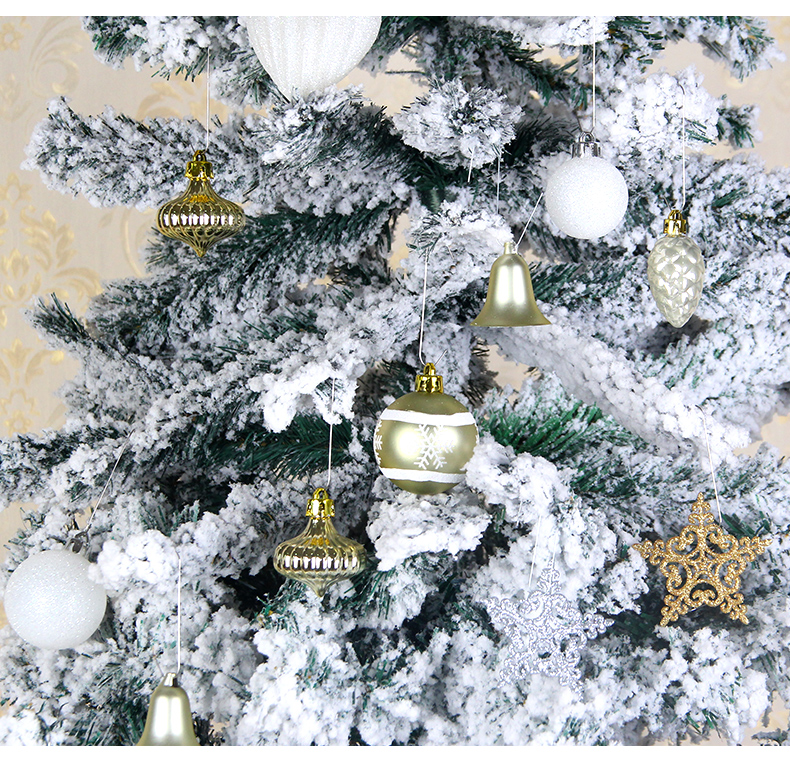 14 inhoo 80pcsset Christmas Tree Ball Ornaments Gift Polystyrene Balls Xmas Party Hanging Ball Merry Christmas Decor for Home 2019