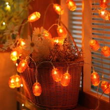 JUNJUE Spring Festival Holiday Decorative Red Long Lantern Led String Lights Wedding Chinatown Outdoor Lamp Home Decor