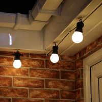 15 m 20 lâmpada conectável festão bola do vintage luzes da corda 75led luzes de fadas natal para pátio ao ar livre festa guirlanda iluminação