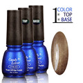 Candy Lover UV Gel Nail Polish Set 3pcs/kit 1 Color + 1 Base Gel + 1 Top Coat 8ml Long-Lasting Soak-Off led/uv Lamp Gel Lacquer