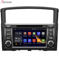 Topnavi 7'' Quad Core Android 6.0 Car DVD Play for MITSUBISHI PAJERO V97 2006 Autoradio GPS Navigation Audio Stereo