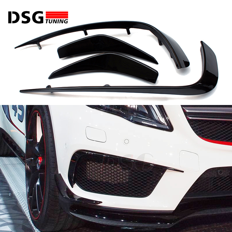 Mercedes X156 Front Bumper Canards ABS Splitter For Bnez GLA Class X156 With Sport Edition 2015 - present