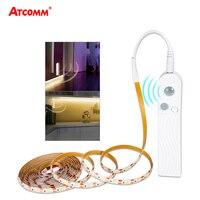 1 м 2 м 3 м PIR датчик движения под шкафом лампы Ночник SMD 2835 60 светодиодов/м спальня для лестниц и коридоров освещение для гардеробной