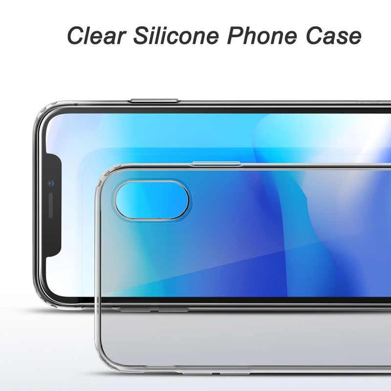 Для айфон Xr чехол прозрачный мягкий силиконовый задняя крышка для айфон XS XR XS Max 8 7 6s 6 Plus 5 5S Se чехол Чехол Чехлы