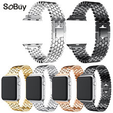 So buy men/womenStainless Steel alloy Watch Band Replacement Strap for iwatch Apple Watch 38mm/42mm series 3/2/1 metal bracelet(China)