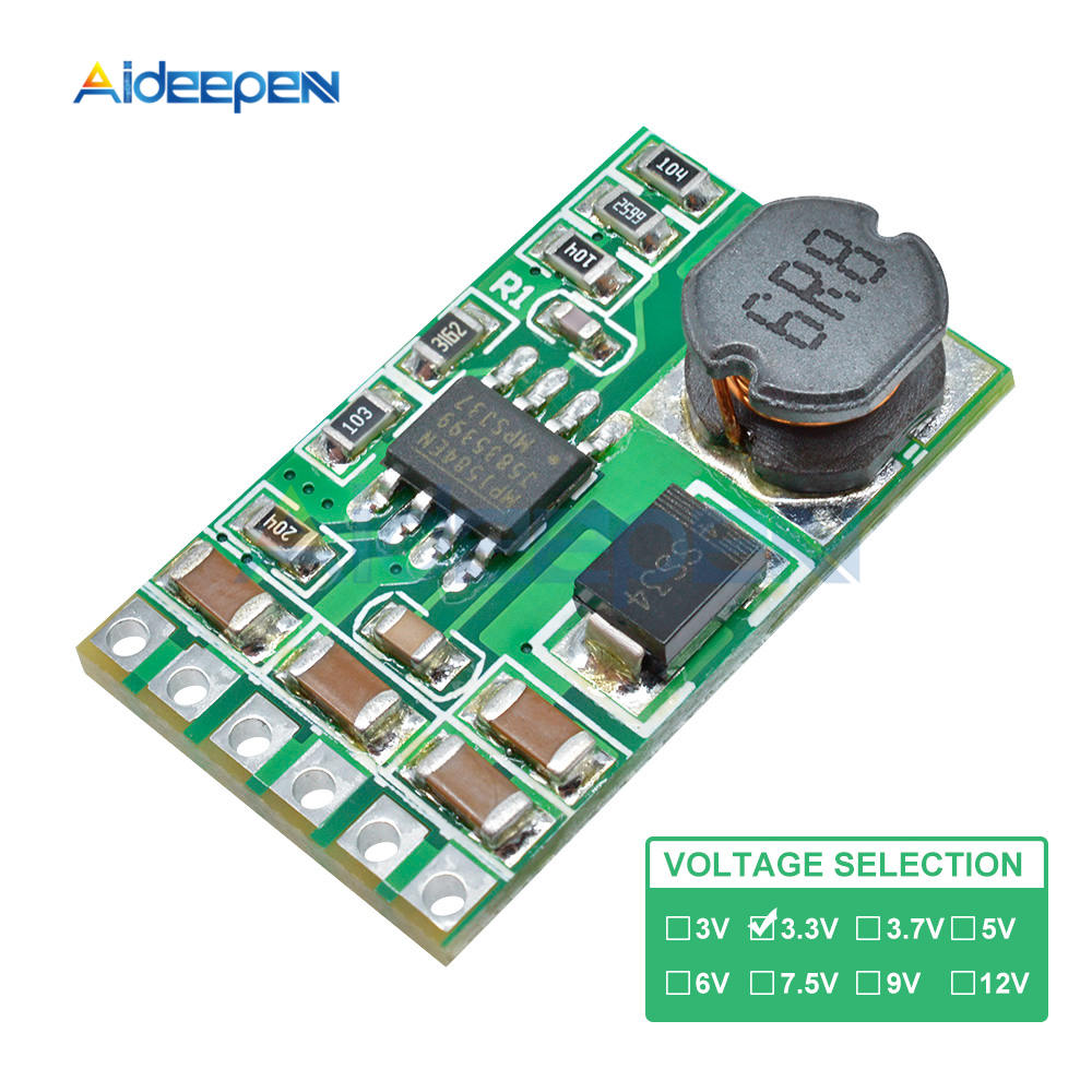 <font><b>3.5A</b></font> DC-DC Step-down Buck Converter <font><b>Power</b></font> <font><b>Supply</b></font> Module Board 5 -27V to 3 / 3.3V / 3.7 / 5V / 6V / 7.5V / 9V / <font><b>12V</b></font> image