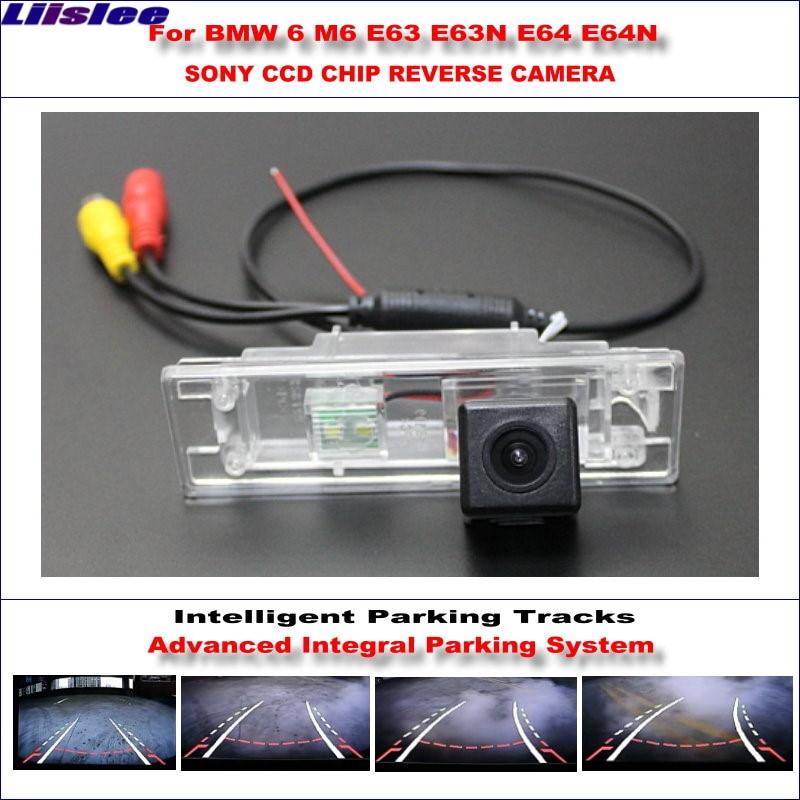 Liislee Intelligentized Reversing Camera For BMW 6 M6 E63 E63N E64 E64N Rear View Back Up / 580 TV Lines Dynamic Guidance Tracks