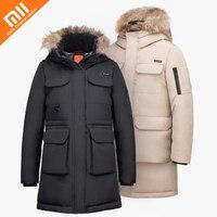Xiaomi mijia 90 точки для отдыха на открытом воздухе длинная 80% гусиный пуховая куртка 4 Водонепроницаемая зимняя куртка обувь для мужчин и женщин