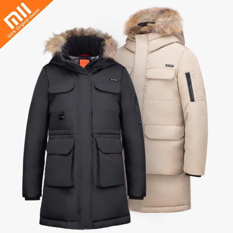 цена на Xiaomi mijia 90 points outdoor leisure long section 80% goose down jacket 4 waterproof winter jacket men and women down jacket