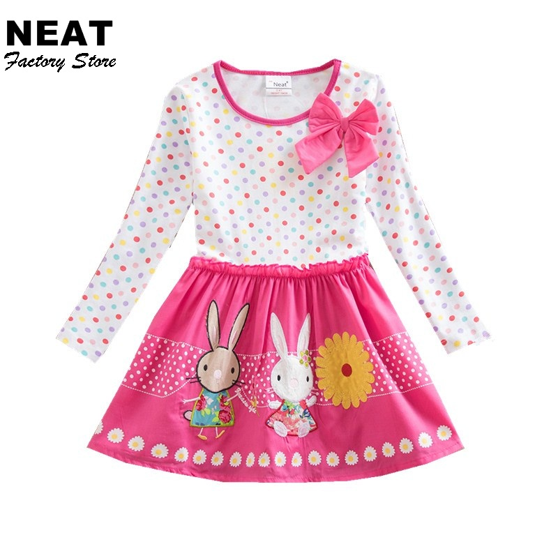 Retail Girls Dress 2017 Spring Brand Children Costume for Kids Dresses Clothes Character Princess Dress NEAT LH4829 Mix 4 8y retail dress for girls baby girl children tutu dresses princess party dresses vestidos kids girls clothes neat sh5460 mix