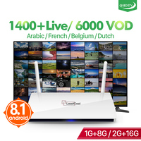 Leadcool IPTV France Android Arabic Box TV Receiver Rk3229 Quad Core Leadcool QHDTV IPTV Subscription box Belgium France IP TV