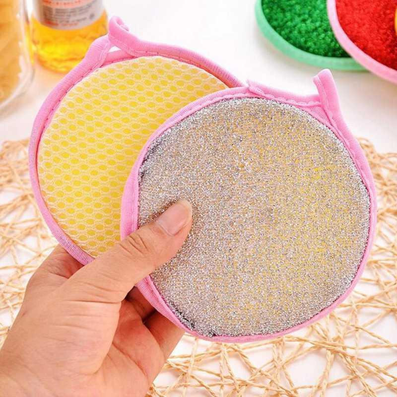Universal duplo lado cozinha limpeza prato de limpeza limpeza limpeza almofada esponja limpeza limpeza toalhas pano cor aleatória