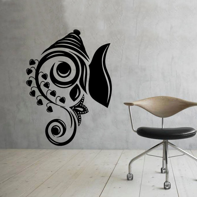Art Design Ganesha Wall Decals Vinyl Stickers Home Decor Indian Elephant Removable Wall Sticker