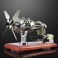 16 цилиндров Swash Plate Hot air DIY Stirling Engine Модель обучения Образование модель игрушки для детей и взрослых