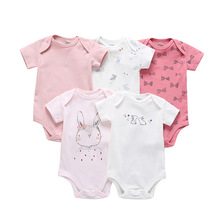 5pcs/pack 2019 Fashion New Born Girl Baby Clothes Bodysuit P