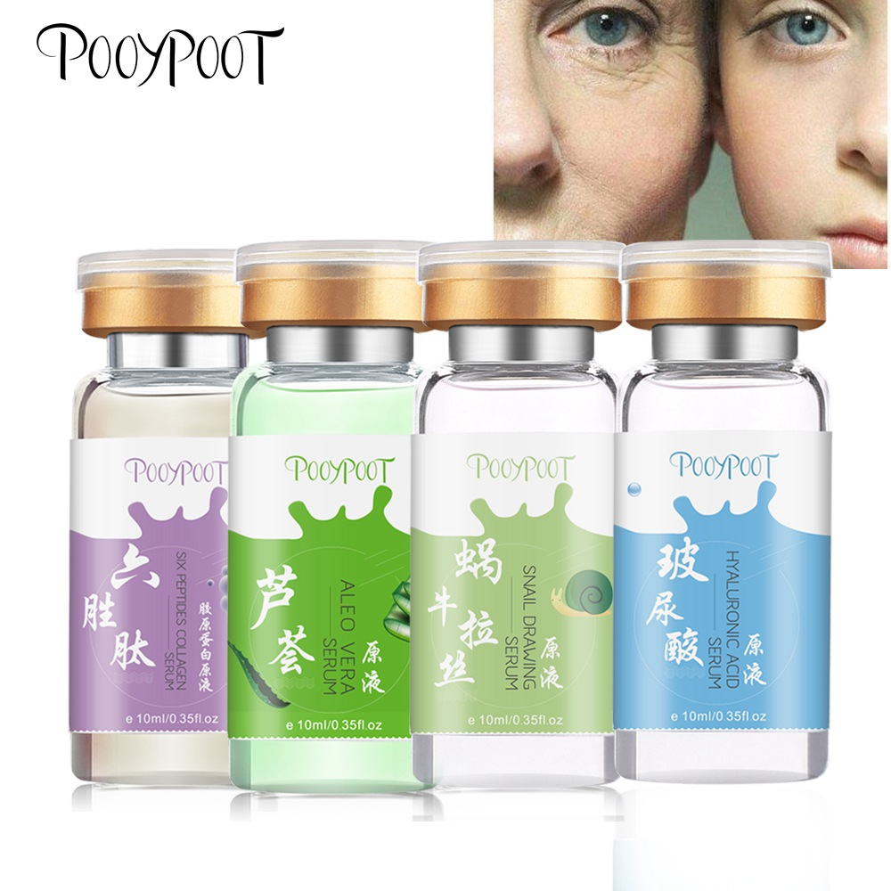 Pooypoot Hydrolyzed Collagen Peptides Snail Serum Pure Hyaluronic Acid Aloe Vera Face Serum Tonic Facial Moisturizer Skin Care