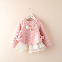2016 Autumn And Winter New Children S Clothing Korean Girls Folder Silk Thicken Pink Princess Skirt