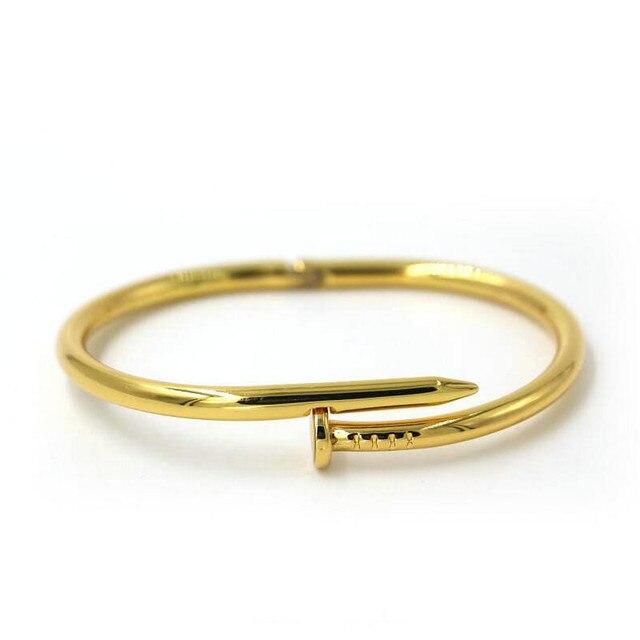 Pulseira Feminina 2016 Irregular 24k Gold Plated Bangles Pulseiras Stainless Steel Screw Bracelet Women 4 Color Jewelry Pulsera