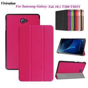 416038aadd7 Nueva llegada funda de soporte magnético para tableta de cuero de PU para  Samsung Galaxy Tab