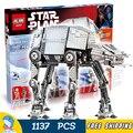 1137 шт. Звездные войны Новый 05050 Моторизованный Прогулки AT-AT DIY Модель Строительные Блоки Детские Игрушки Подарки, Совместимые с Lego