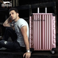 Travel tale fashion 20/24/28 inches Aluminum frame+PC+ABS Rolling Luggage Spinner brand Travel Suitcase