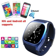 Sport Waterproof Bluetooth Smart Watch luxury wristwatch M26 with Dial SMS Remind Pedometer for Android Samsung xiaomi phone