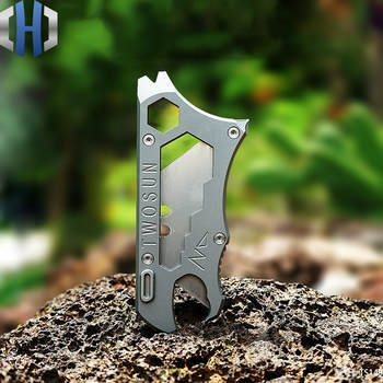 Titanium Alloy Utility Knife Paper Cutter Express Knife Multi-tool Portable EDC Equipment Portable titanium alloy heavy duty utility knife cutting paper unpacking wallpaper knife multi function outdoor edc defense portable