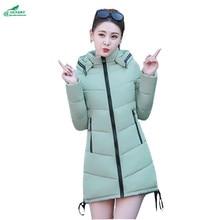 Winter new women feathers cotton coat mid-length thickening coat tide Korean students Large size cotton Outerwear tide OKXGNZ