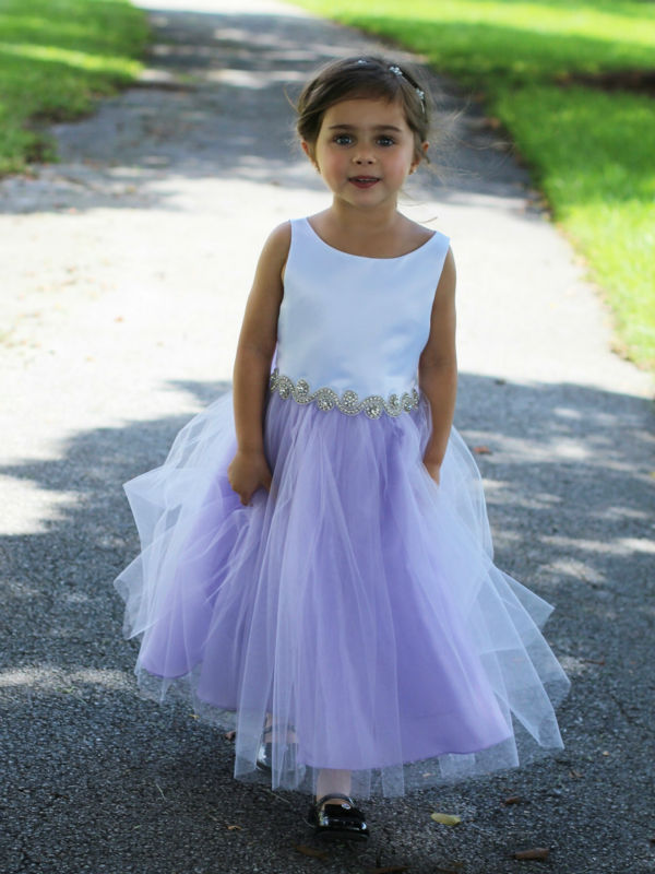 Variety of Colors Flower Girls Dresses For Wedding Mid-Calf Girl Birthday Party Dress A-Line Mother Daughter Dresses For Girls environmentally friendly pvc inflatable shell water floating row of a variety of swimming pearl shell swimming ring