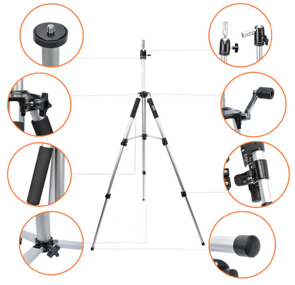 Tools & Accessories Silvery Tripod Training Doll Head Mannequin Head Wig Manikin Canvas Block Head Stand Aluminium Alloy Round Leg Strong Stable