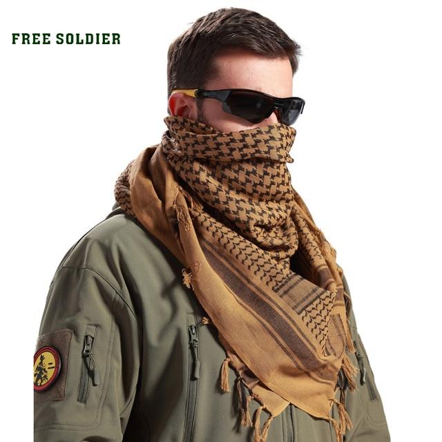 FREE SOLDIER Квадратный головной арабский убор из 100% хлопка , шарф и маска для поездок , скрытый ветрозащитной головной платок , изменчивый шарф