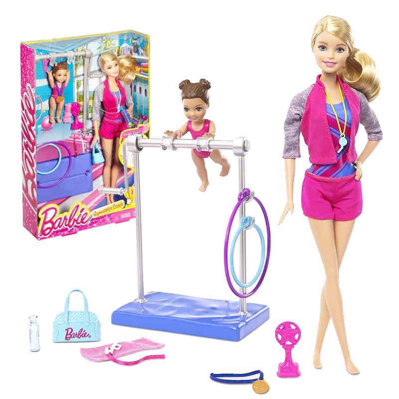 Barbie Originaux Entraîneur de Gymnastique Fille Princes Poupée American Girl Poupées Boneca Brinquedos Pour Cadeau D'anniversaire Jouets Juguetes enfant