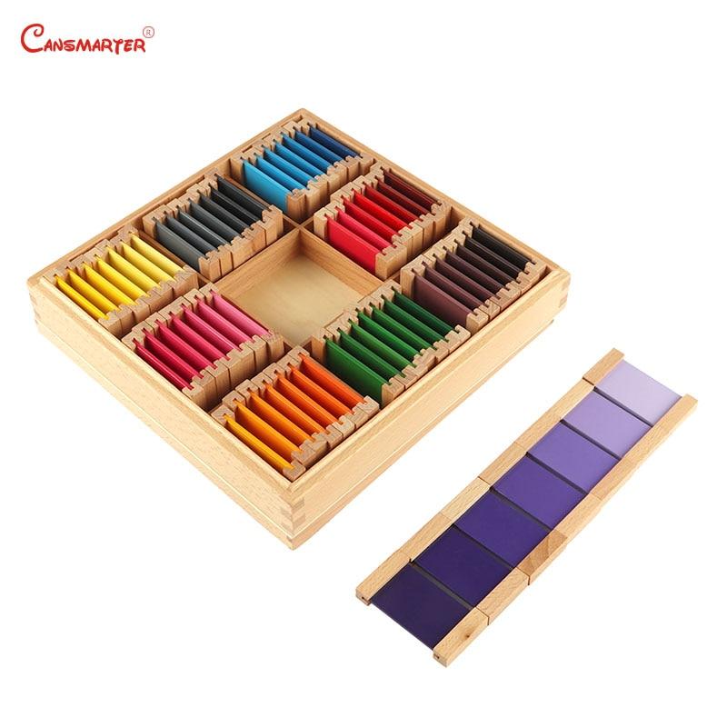 Montessori exercices sensoriels en bois couleur comprimés 3rd boîte couleur tri jouets enfants bois de hêtre matériel d'enseignement jouet SE016-3