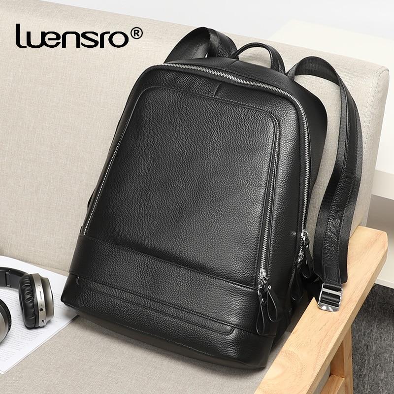 2019 Genuine Leather Backpack Men Waterproof Laptop Backpacks Male Travel bagpack High Quality School Backpack for