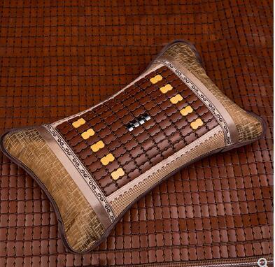 Summer Pillow Tea Student Bamboo Mat Ice Silk Mat Single Mahjong Bamboo Pillow Hard Cool Summer Cool Adult Cool Pillow