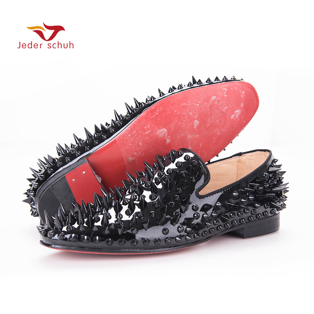 Men loafers paint and rivet design simple eye-catching is your good choice in party time, wedding and party shoes men flats economics is your choice