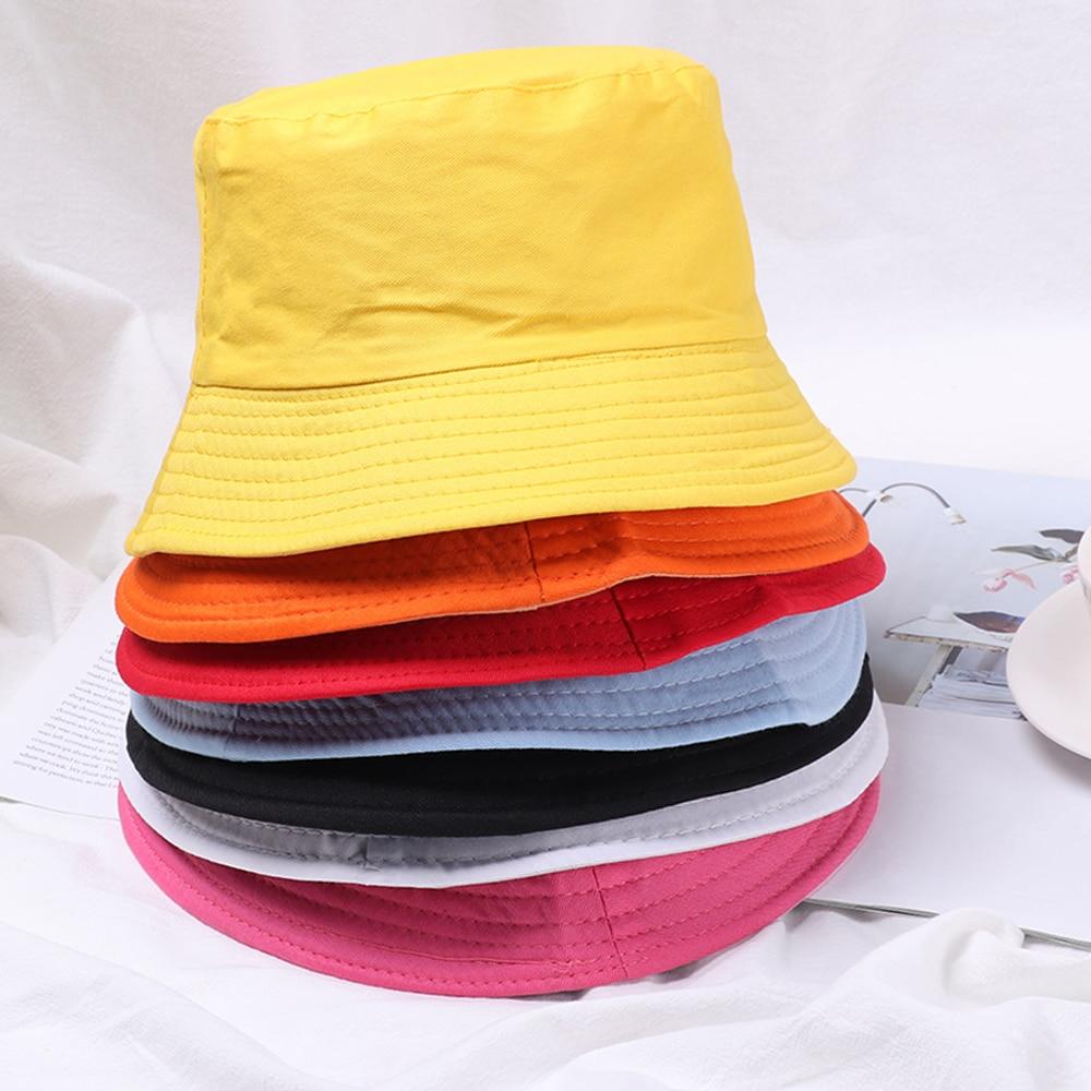 HOOH Summer Foldable Bucket Hat Unisex Women Outdoor Sunscreen Cotton Fishing Hunting Cap Men Basin Chapeau Sun Prevent Hats