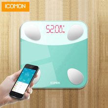 iCOMON i9 Smart Bathroom Digital Body Scales Floor Electronic Human Weight bmi Scale Bluetooth Home Weighting Fat Balance