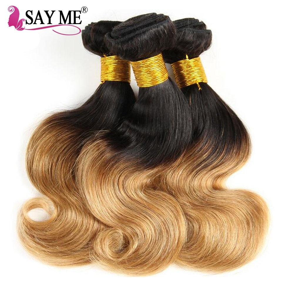 SAY ME Body Wave Bundles 1B 27 And 1B 30 Blonde Bundles Ombre Brazilian Hair Weave