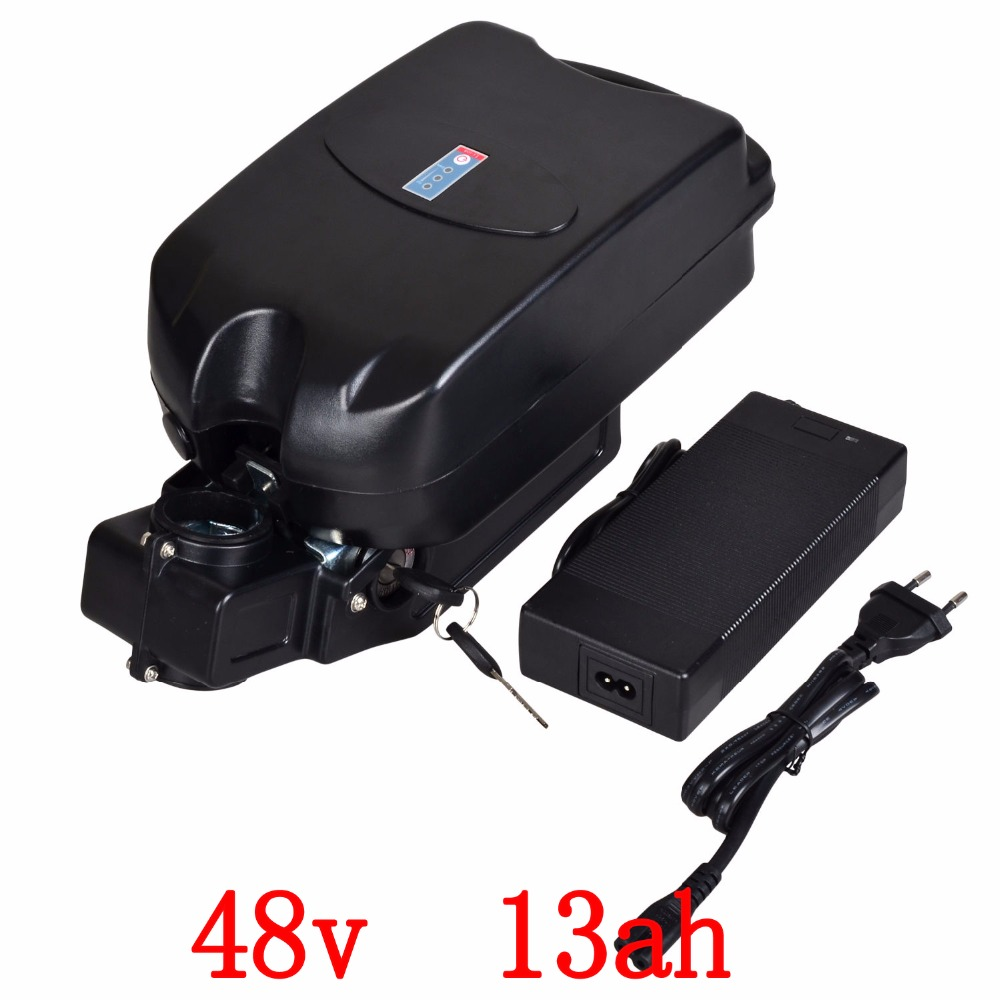 48V 13AH Lithium Battery for Electric Bike ebike Li-ion Battery with Case rechargeble battery,BMS and charger free shipping