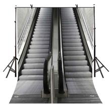 5x7ft Staircase Backdrop Gray electric stairs photography background and Photography Studio Props