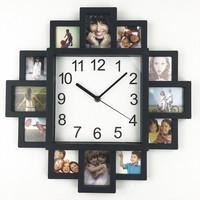 2018 New DIY Wall   Clock   Modern Design DIY Photo Frame   Clock   Plastic Art Pictures   Clock   Unique Klok Home Decor Horloge