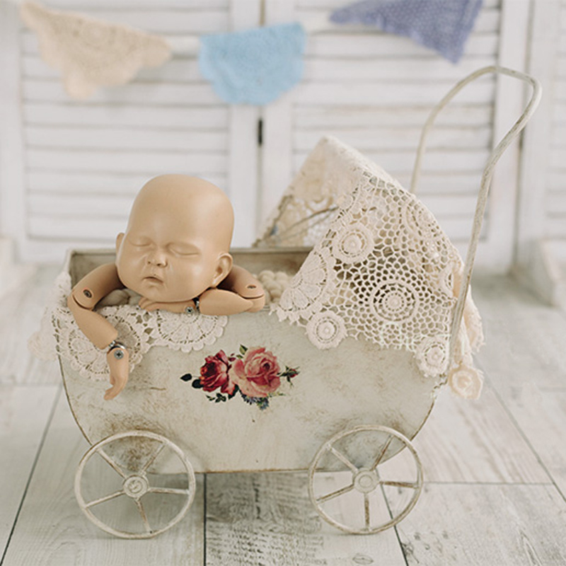 Newborn Baby Photography Trolley Props Baby Photo Shoot Vintage Car Basket Infant Picture Shooting Accessories bebe foto PropsNewborn Baby Photography Trolley Props Baby Photo Shoot Vintage Car Basket Infant Picture Shooting Accessories bebe foto Props
