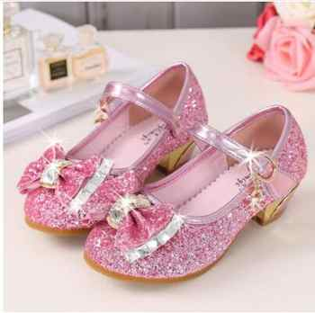 5Colors Children Princess Sandals Kids Girls Wedding Shoes High Heels Dress Shoes Bowtie Gold Shoes For Girls - DISCOUNT ITEM  23% OFF All Category