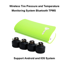 Bluetooth TPMS for Andriod Cellphone and iphone Wi-fi Tire Stress Monitoring System 4pcs Exterior sensor