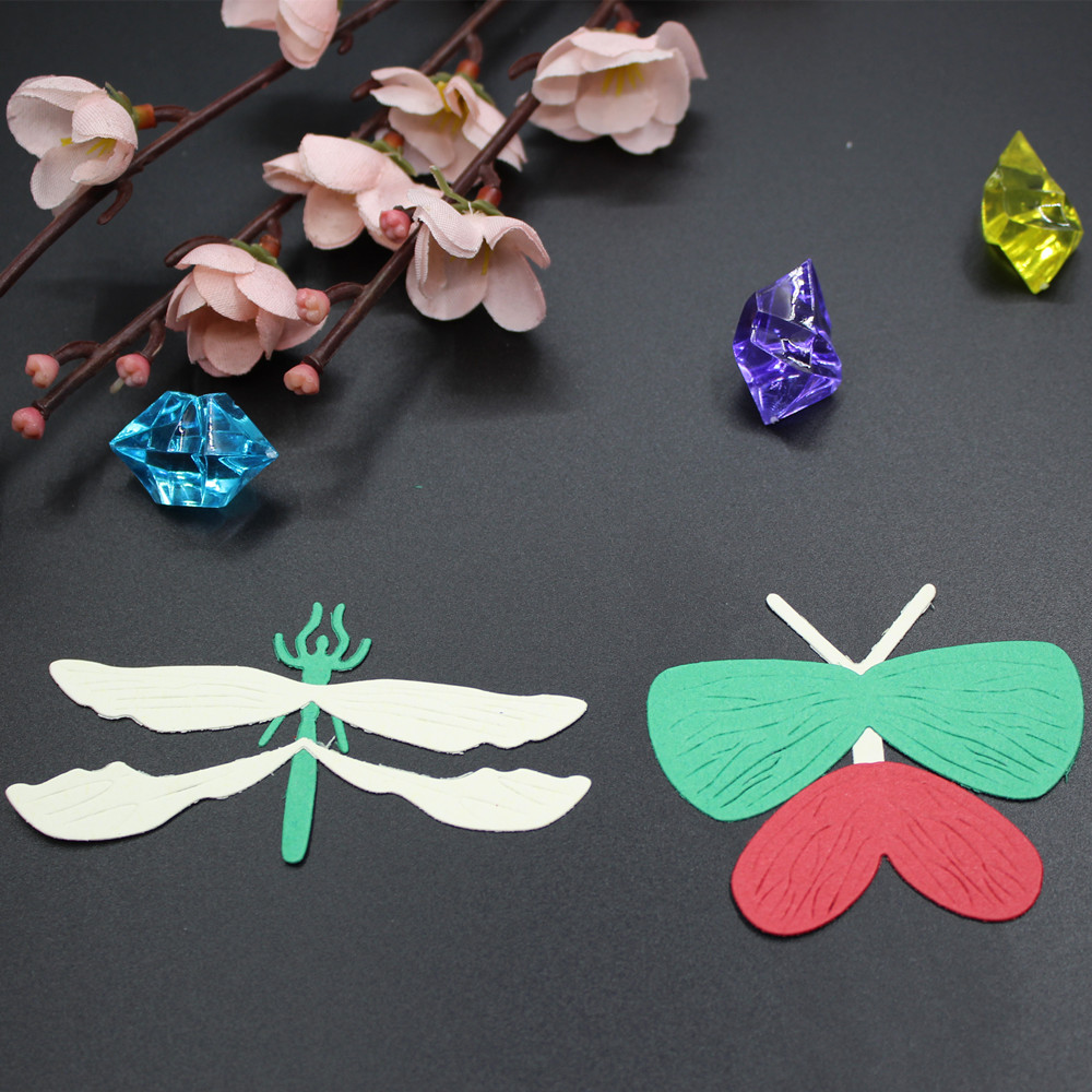 New butterfly dragonfly metal cutting dies stencil diy new butterfly dragonfly metal cutting dies stencil diy scrapbooking photo album greeting invitation paper cards decoration craft in cutting dies from home jeuxipadfo Gallery