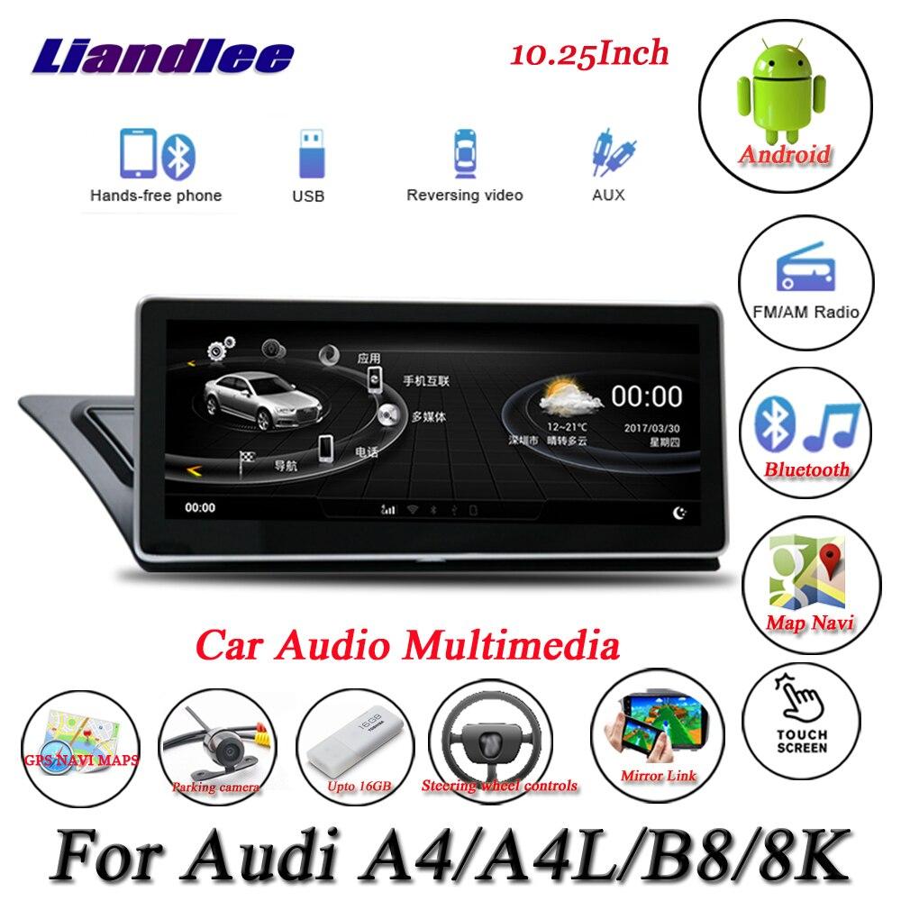Liandlee Per Audi A4/A4L B8 8 K Android Originale Sistema di Radio Carplay GPS Navi di Navigazione HD Dello Schermo Multimediale no CD Lettore DVD