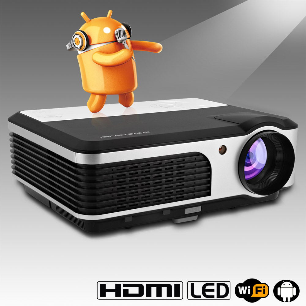 Caiwei Digital Led Projector Home Theater Beamer Lcd: CAIWEI A5A Wireless LED Projector WIFI Support Full HD