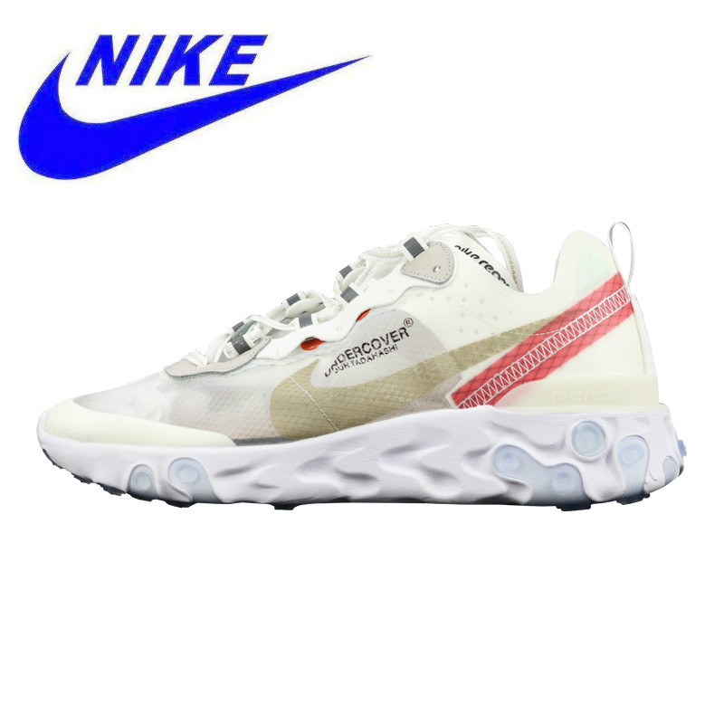 finest selection 973b9 fd38a Nike Epic React Element 87 Men's and Women's Running Shoes,Breathable  Non-Slip, White/Blue & White AQ1813 339 AQ18&13 341