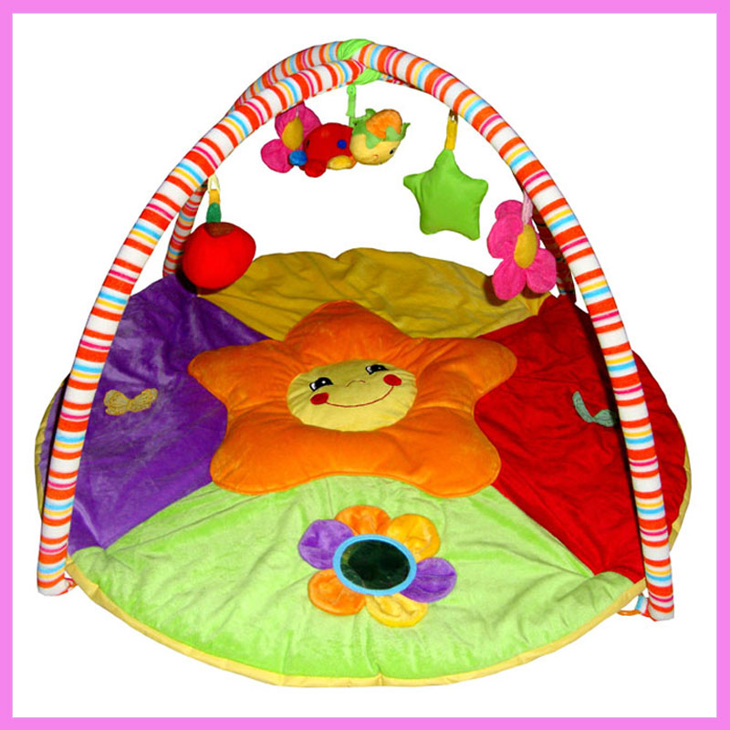 Baby Full Moon Gift Game Blanket Baby Activity Gym Play Floor Mat Early Education Puzzle Toys Baby Cot Mobile Rainbow Playgym